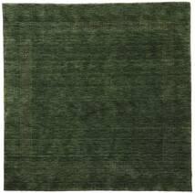 Handloom Gabba - Verde Floresta Tapete 200X200 Moderno Quadrado Verde Escuro (Lã, Índia)