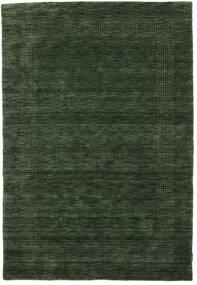Handloom Gabba - Verde Floresta Tapete 140X200 Moderno Verde Escuro (Lã, Índia)