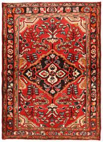 Hosseinabad Tapete 112X157 Oriental Feito A Mão Vermelho Escuro/Castanho Alaranjado (Lã, Pérsia/Irão)