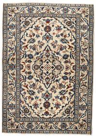 Kashan Tapete 103X146 Oriental Feito A Mão Bege/Preto/Cinzento Claro (Lã, Pérsia/Irão)