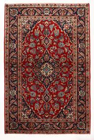 Kashan Tapete 97X147 Oriental Feito A Mão Vermelho Escuro/Bege (Lã, Pérsia/Irão)