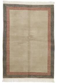 Gabbeh Indo Tapete 140X199 Moderno Feito A Mão Cinzento Claro/Castanho Escuro (Lã, Índia)