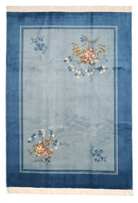 China 90 Line Tapete 244X335 Oriental Feito A Mão Azul/Azul Escuro (Lã, China)