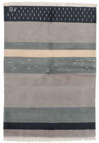 Gabbeh Indo Tapete 141X197 Moderno Feito A Mão Cinzento Claro/Cinza Escuro (Lã, Índia)
