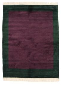 Gabbeh Indo Tapete 145X189 Moderno Feito A Mão Porpora Escuro/Preto (Lã, Índia)