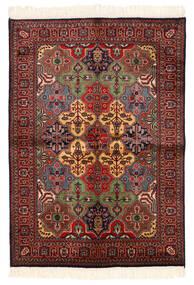 Kazak Tapete 135X192 Oriental Feito A Mão Vermelho Escuro/Preto (Lã, Paquistão)