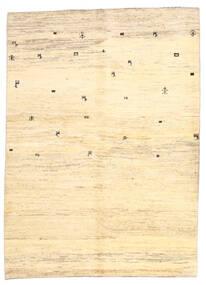 Gabbeh Persa Tapete 169X236 Moderno Feito A Mão Bege/Amarelo (Lã, Pérsia/Irão)