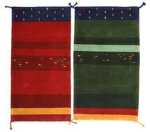 Gabbeh Indo Tapete 60X120 Moderno Feito A Mão Verde Escuro/Castanho Alaranjado (Lã, Índia)