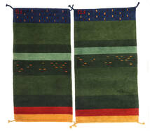 Gabbeh Indo Tapete 60X120 Moderno Feito A Mão Verde Escuro (Lã, Índia)