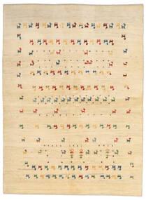 Gabbeh Persa Tapete 144X196 Moderno Feito A Mão Bege/Castanho Claro (Lã, Pérsia/Irão)
