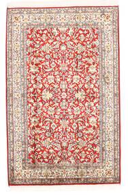 Kashmir Pura Seda Tapete 78X121 Oriental Feito A Mão Bege (Seda, Índia)