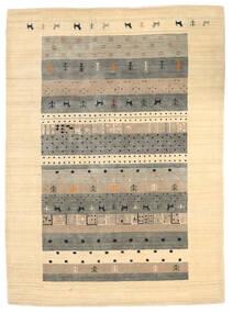 Loribaf Loom Tapete 174X241 Moderno Feito A Mão Bege/Cinzento Claro (Lã, Índia)