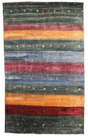 Gabbeh Loribaft Tapete 145X236 Moderno Feito A Mão Cinza Escuro/Azul (Lã, Índia)