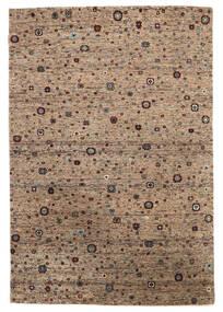 Gabbeh Loribaft Tapete 135X200 Moderno Feito A Mão Castanho Escuro/Castanho (Lã, Índia)