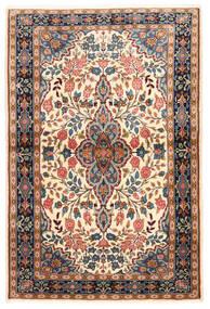 Sarough Tapete 100X149 Oriental Feito A Mão Castanho Escuro/Bege Escuro (Lã, Pérsia/Irão)