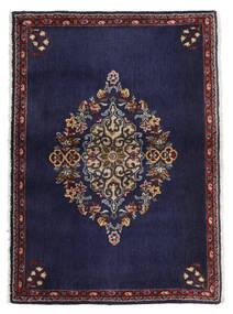 Kashan Tapete 68X96 Oriental Feito A Mão Porpora Escuro/Castanho Escuro (Lã, Pérsia/Irão)