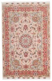Tabriz 60 Raj Fio De Seda Tapete 153X240 Oriental Feito A Mão Vermelho Escuro/Castanho Escuro (Lã/Seda, Pérsia/Irão)