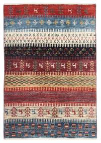 Gabbeh Persa Tapete 60X89 Moderno Feito A Mão Vermelho Escuro/Azul (Lã, Pérsia/Irão)
