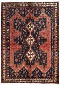 Afshar Tapete 160X225 Oriental Feito A Mão Cinza Escuro/Vermelho Escuro (Lã, Pérsia/Irão)