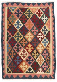 Kilim Tapete 103X150 Oriental Tecidos À Mão Cinza Escuro/Vermelho Escuro (Lã, Pérsia/Irão)