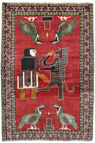 Ghashghai Tapete 124X195 Oriental Feito A Mão Vermelho/Cinza Escuro (Lã, Pérsia/Irão)