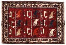 Ghashghai Tapete 127X186 Oriental Feito A Mão Vermelho Escuro/Castanho Escuro (Lã, Pérsia/Irão)