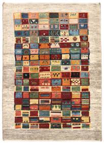 Gabbeh Persa Tapete 84X118 Moderno Feito A Mão Bege/Vermelho Escuro (Lã, Pérsia/Irão)
