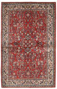 Sarough Tapete 132X206 Oriental Feito A Mão Vermelho Escuro/Bege (Lã, Pérsia/Irão)