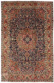 Tabriz Tapete 196X308 Oriental Feito A Mão Castanho Escuro/Cinza Escuro (Lã, Pérsia/Irão)
