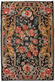Kilim Rose Moldavia Tapete 201X298 Oriental Tecidos À Mão Preto/Vermelho Escuro (Lã, Moldávia)