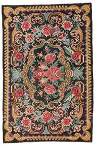 Kilim Rose Moldavia Tapete 191X285 Oriental Tecidos À Mão Preto/Cinza Escuro (Lã, Moldávia)