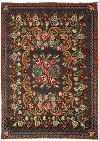 Kilim Rose Moldavia Tapete 191X282 Oriental Tecidos À Mão Preto/Verde Escuro (Lã, Moldávia)