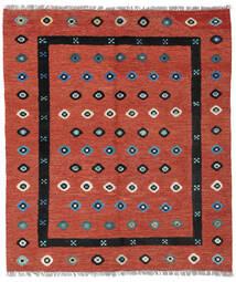 Kilim Nimbaft Tapete 160X186 Moderno Tecidos À Mão Vermelho Escuro/Castanho Alaranjado (Lã, Afeganistão)