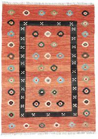 Kilim Nimbaft Tapete 108X148 Moderno Tecidos À Mão Laranja/Vermelho (Lã, Afeganistão)