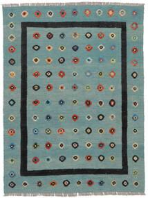 Kilim Nimbaft Tapete 152X201 Moderno Tecidos À Mão Verde Escuro/Turquesa Escuro (Lã, Afeganistão)