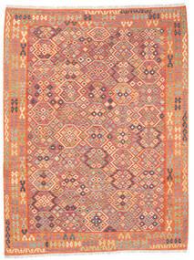 Kilim Afegão Old Style Tapete 257X336 Oriental Tecidos À Mão Laranja/Bege Grande (Lã, Afeganistão)