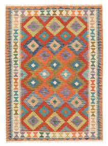 Kilim Afegão Old Style Tapete 122X171 Oriental Tecidos À Mão Bege/Vermelho (Lã, Afeganistão)