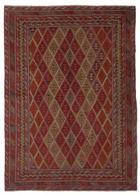 Kilim Golbarjasta Tapete 205X285 Oriental Tecidos À Mão Preto/Castanho Escuro (Lã, Afeganistão)