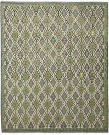 Kilim Afegão Old Style Tapete 252X300 Oriental Tecidos À Mão Cinza Escuro/Verde Claro Grande (Lã, Afeganistão)