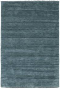 Handloom Fringes - Secundário Tapete 160X230 Moderno Preto/Azul Escuro (Lã, Índia)