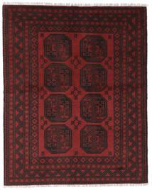 Afegão Tapete 146X186 Oriental Feito A Mão Preto/Vermelho Escuro (Lã, Afeganistão)