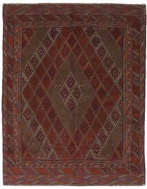 Kilim Golbarjasta Tapete 150X190 Oriental Tecidos À Mão Preto/Castanho Escuro (Lã, Afeganistão)