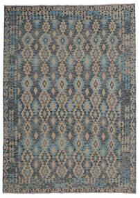 Kilim Afegão Old Style Tapete 210X297 Oriental Tecidos À Mão Preto/Castanho Escuro (Lã, Afeganistão)