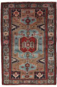 Hamadã Tapete 132X205 Oriental Feito A Mão Preto/Castanho Escuro (Lã, Pérsia/Irão)