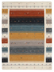 Loribaf Loom Designer - Multi Tapete 140X200 Moderno Preto/Castanho Escuro (Lã, Índia)