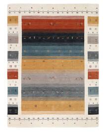 Loribaf Loom Designer - Multi Tapete 160X230 Moderno Preto/Branco/Creme (Lã, Índia)