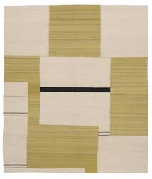 Kilim Moderno Tapete 165X188 Moderno Tecidos À Mão Verde Azeitona/Castanho Claro (Lã, Afeganistão)