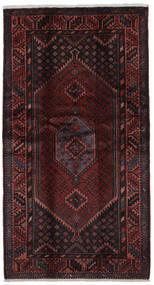 Hamadã Tapete 107X200 Oriental Feito A Mão Preto (Lã, Pérsia/Irão)