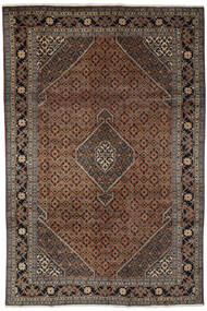 Ardabil Tapete 193X294 Oriental Feito A Mão Preto/Castanho Escuro (Lã, Pérsia/Irão)