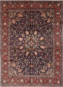 Mahal Tapete 270X364 Oriental Feito A Mão Preto/Castanho Escuro Grande (Lã, Pérsia/Irão)